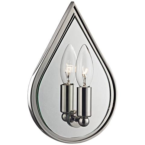 "Hudson Valley Andes 10""H Polished Nickel Sconce"