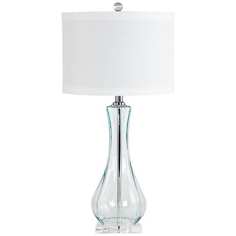 Lissie Light Blue Glass Vase Table Lamp