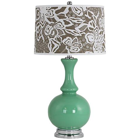 Nabila Celadon Green Glass Vase Table Lamp