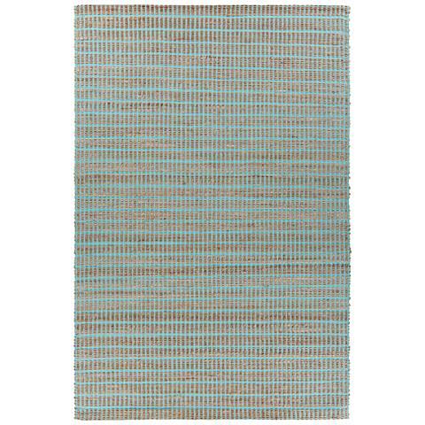 Chandra Abacus Blue Hand-Woven Area Rug