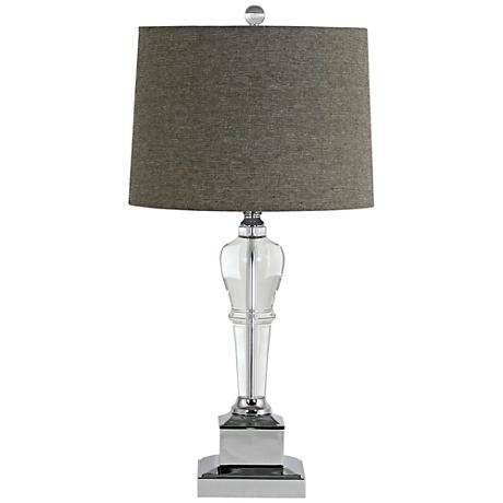 candace clear crystal trophy table lamp 9m147 lamps plus. Black Bedroom Furniture Sets. Home Design Ideas