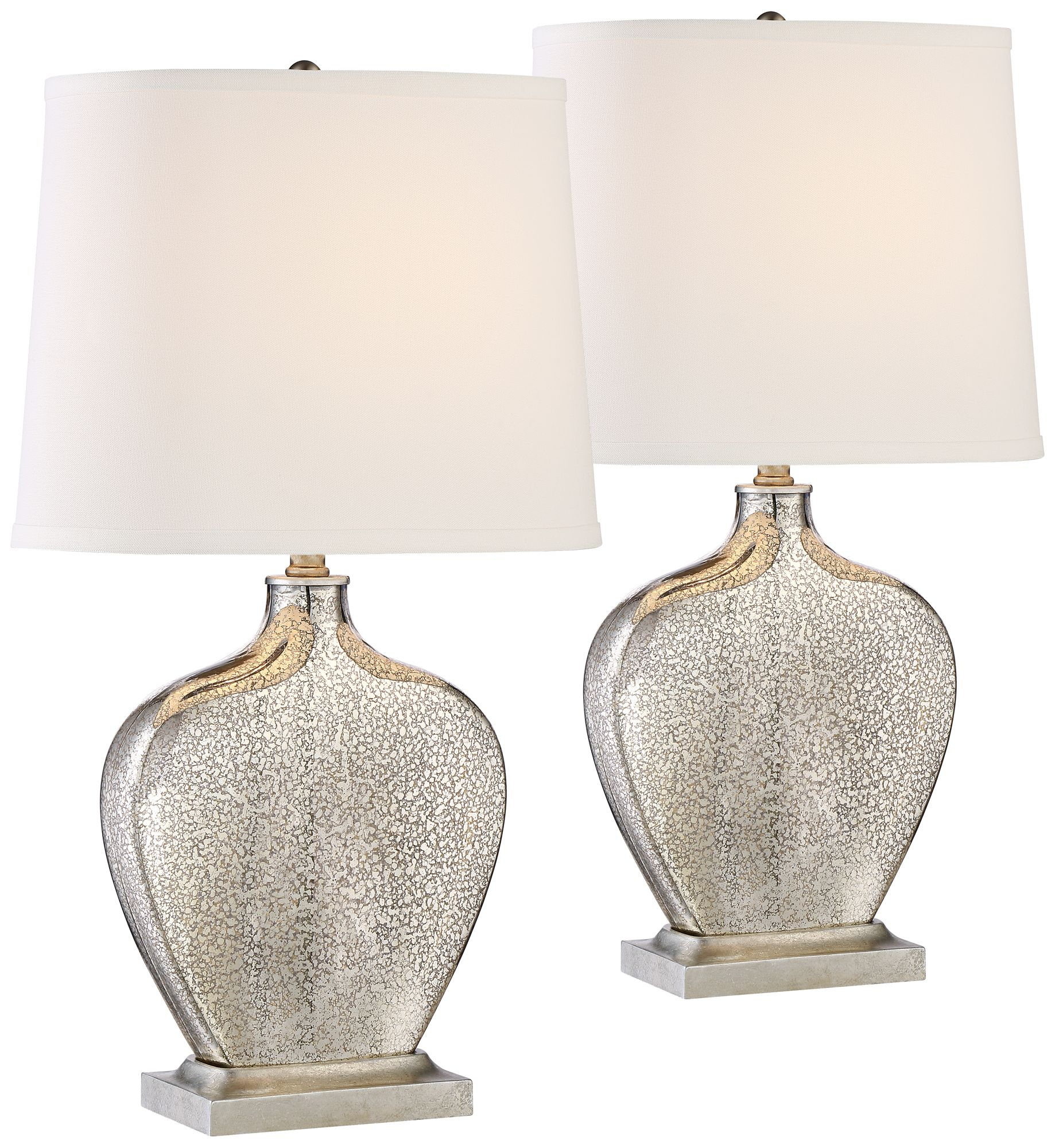 set of 2 axel mercury glass table lamps - Mercury Glass Table Lamp