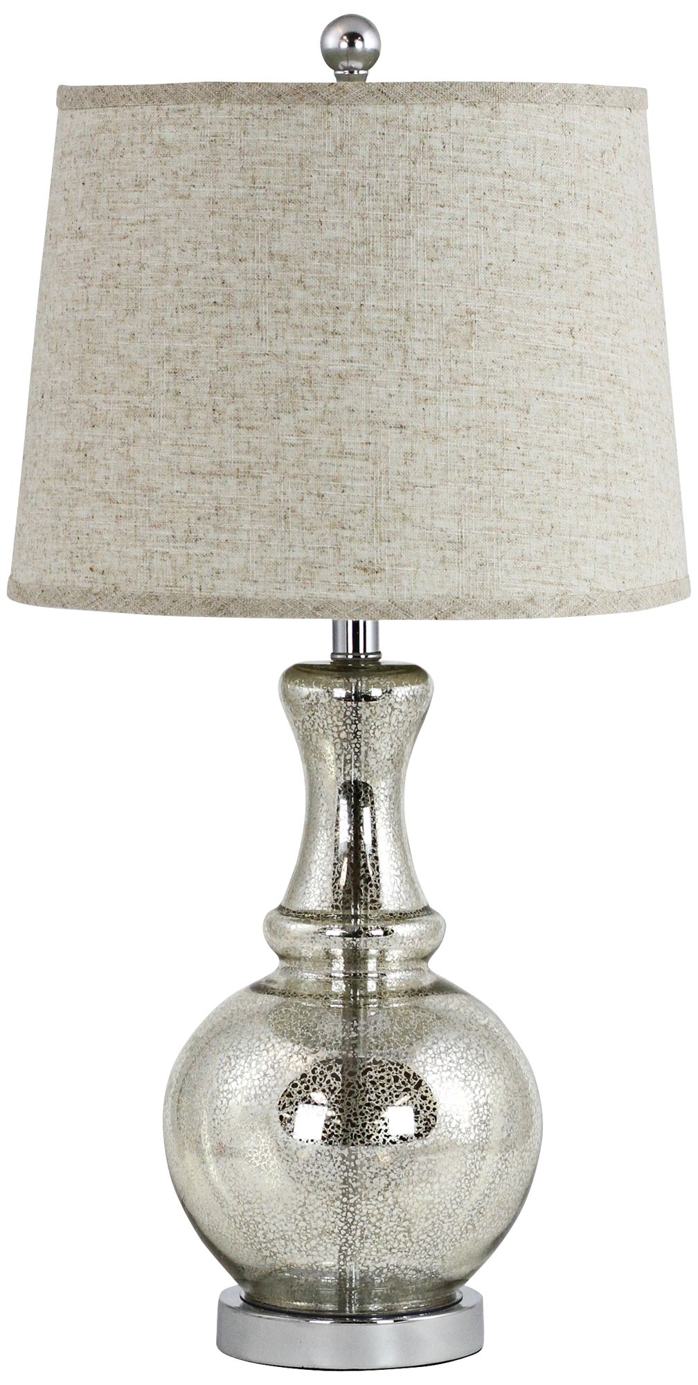 Carly Antique Mercury Glass Vase Table Lamp