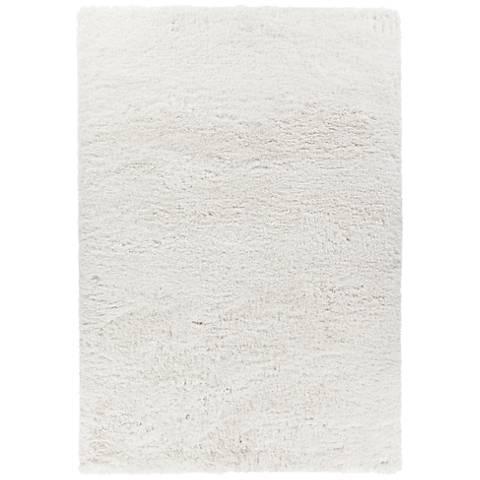 Chandra Osim White Shag Area Rug