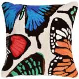 "Frontporch Butterfly Dance Cream 18"" Indoor-Outdoor Pillow"