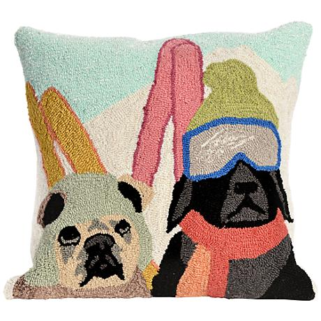 "Frontporch Ski Patrol Multi-Color 18"" Square Outdoor Pillow"