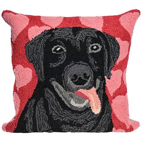 """Frontporch Puppy Love Valentine 18"""" Indoor-Outdoor Pillow"""