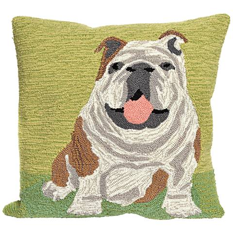"Frontporch Wet Kiss Green 18"" Square Indoor-Outdoor Pillow"