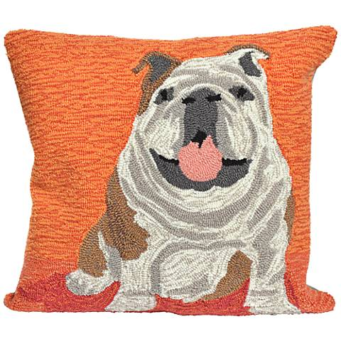 "Frontporch Wet Kiss Orange 18"" Square Outdoor Throw Pillow"