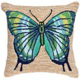 "Frontporch Butterfly Cool 18"" Square Indoor-Outdoor Pillow"