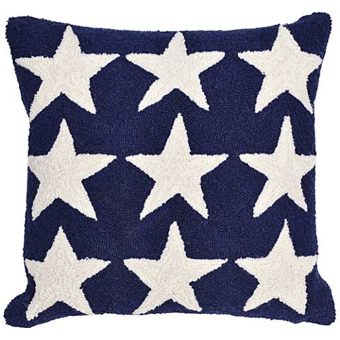 "Frontporch Stars Blue 18"" Square Indoor-Outdoor Pillow"