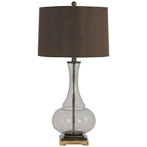 Kiera Smoky Glass Vase Table Lamp