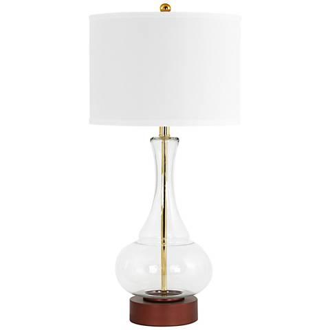 Rita Clear Glass and Dark Copper Table Lamp