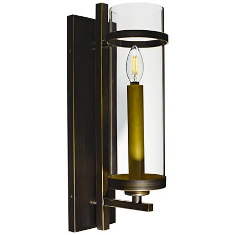 """Maxim Midtown 19"""" High Gold Bronze LED Wall Sconce"""