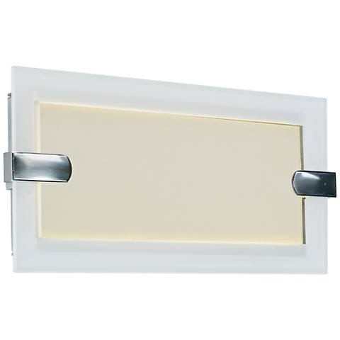 "Maxim Trim 13"" Wide Satin Nickel LED Bath Light"