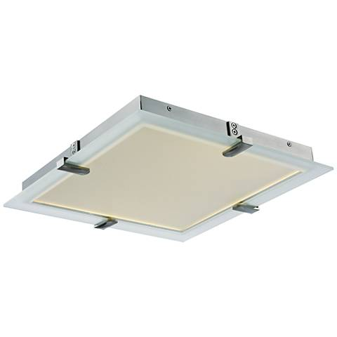 "Maxim Trim 15"" Wide Satin Nickel LED Ceiling Light"