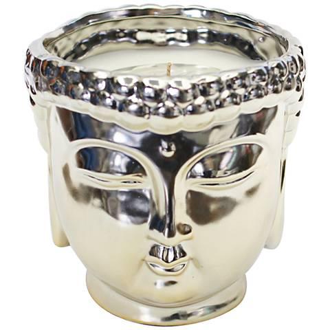 Buddha Metallic Champagne Vanilla Large Scented Candle