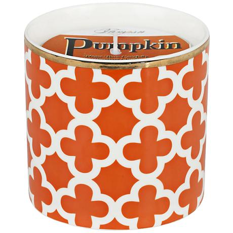 Venetian Bright Small Burnt Orange Pumpkin Scented Candle