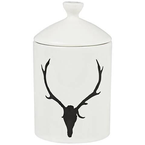 Antler Cedar Lodge Scent Everyday White Lidded Jar Candle