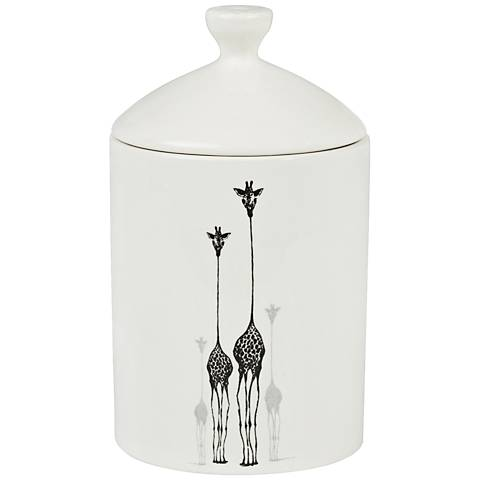 Giraffe Bamboo-Jasmine Everyday White Lidded Jar Candle