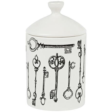 Keys Fennel and Fig Everyday White Lidded Jar Candle
