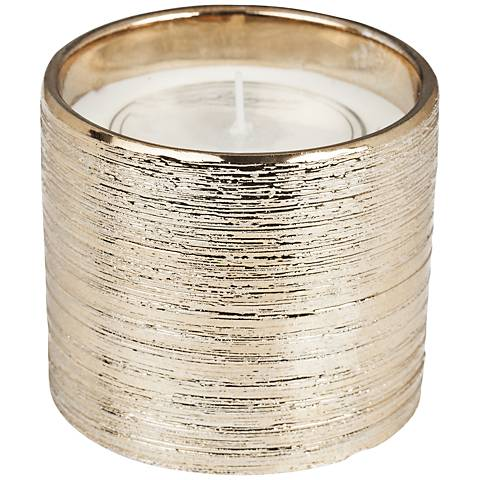 Sandpaper Metallic Champagne Currant Scented Candle