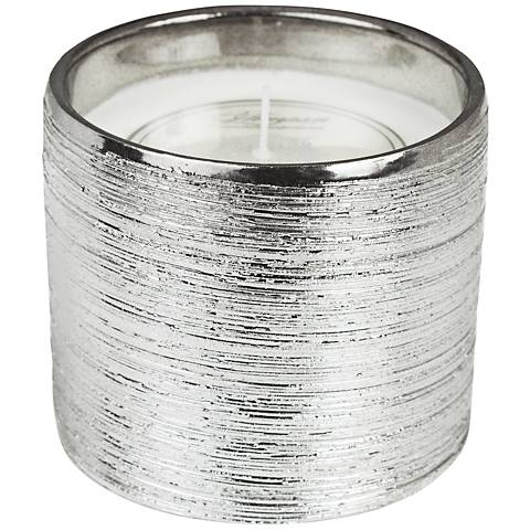 Sandpaper Metallic Silver Bamboo-Jasmine Scented Candle