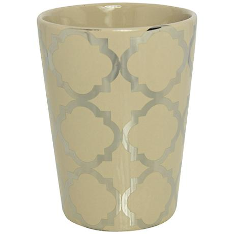 Byzantine Taupe and Silver Hand-Poured Scented Candle