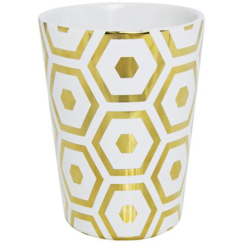 Byzantine Gold Hexagons Tea and Mint Hand-Poured Candle