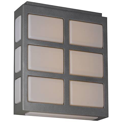 "Maxim Packs 10 1/4""H Metallic Silver LED Outdoor Wall Light"
