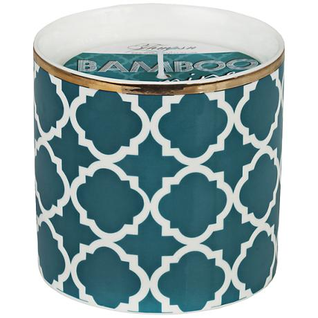 Venetian Brights Teal Ovals Fig Small Scented Candle