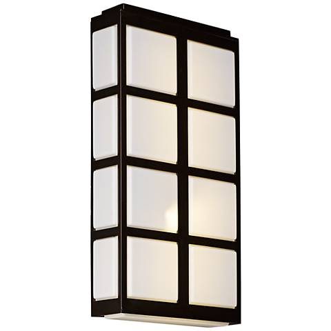 "Maxim Packs 20""H Metallic Bronze LED Outdoor Wall Light"