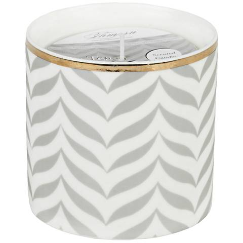 Venetian Trans Gray Chevron Tea-Mint Small Scented Candle