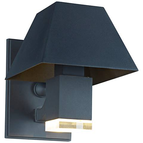 "Maxim Pavilion 12 1/4""H Black LED Outdoor Wall Light"