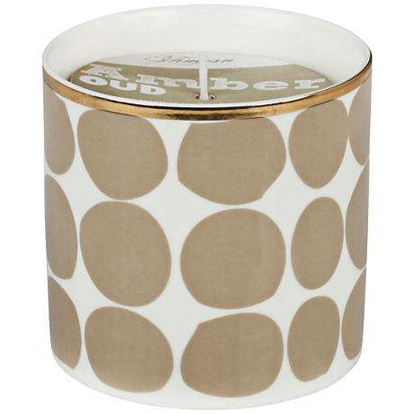 Venetian Trans Taupe Dots Amber-Oud Small Scented Candle