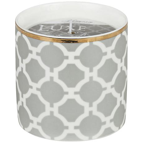 Venetian Trans Gray Circles Linen Small Scented Candle