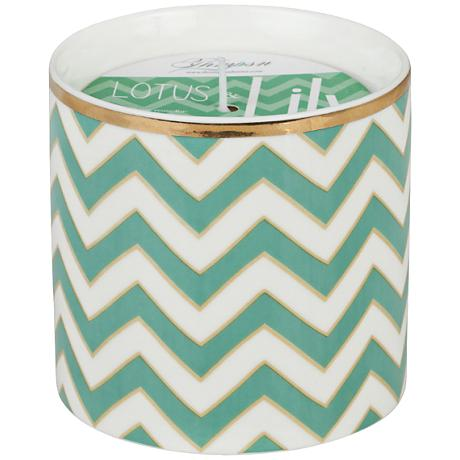 Venetian Trans Turquoise Chevron Small Scented Candle