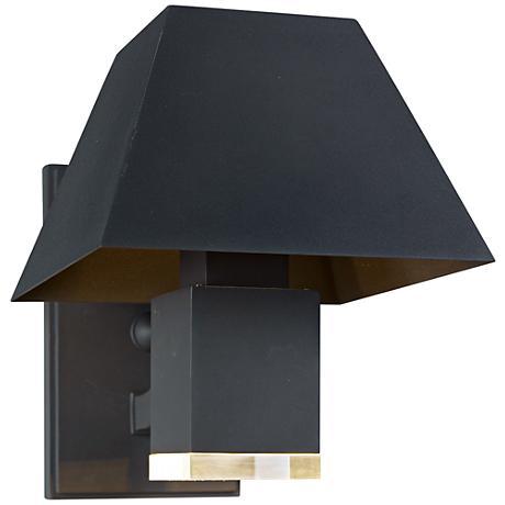 "Maxim Pavilion 8 1/2""H Black LED Outdoor Wall Light"