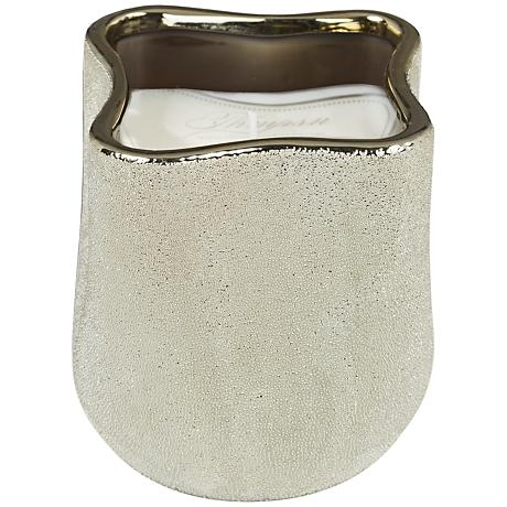 Flow Metallic Champagne Winter Woods Scented Candle