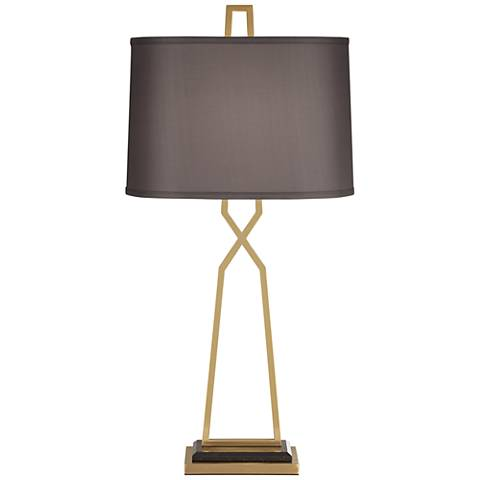 Addison Antique Brass Metal Table Lamp