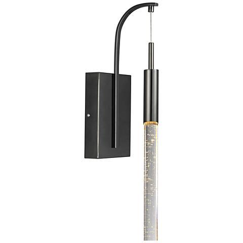 """ET2 Scepter 19"""" High Black Chrome LED Wall Sconce"""