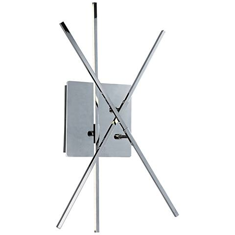 "ET2 Kriss Kross 24"" High Polished Chrome LED Wall Sconce"