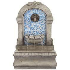 Outdoor Wall Fountain outdoor fountains - patio & garden water fountains | lamps plus