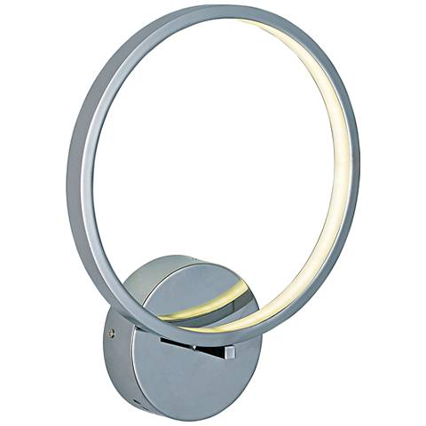 "ET2 Hoops 12 1/2"" High Polished Chrome LED Wall Sconce"