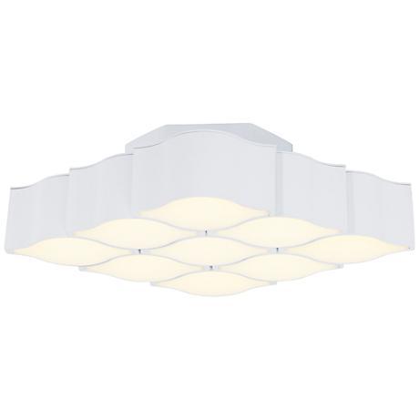 """ET2 Billow 17 3/4"""" Wide Matte White LED Ceiling Light"""