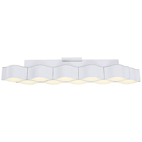 """ET2 Billow 35 1/4"""" Wide Matte White LED Ceiling Light"""