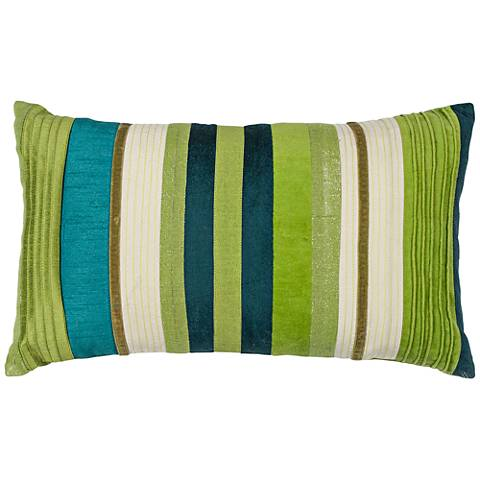 "Verdant Teal Green 20"" Wide Rectangle Decorative Pillow"