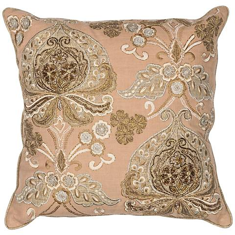 "Traditions Gold 18"" Square Decorative Pillow"