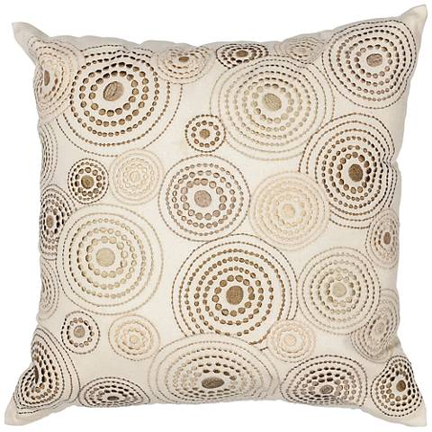 "Donny Osmond Home Concentric Ivory 18"" Square Pillow"