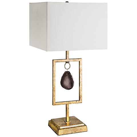 Regina Andrew Design Smoky Agate Gold Leaf Table Lamp